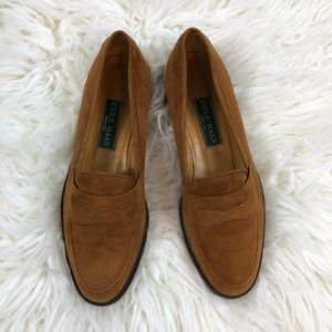Cole Haan Vintage Suede Penny Loafer Flats 8.5 B